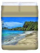 Hamoa Beach At Hana Maui Duvet Cover