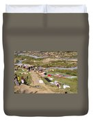 Hampi Bathing Ghats Duvet Cover