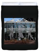 Hampshire County Cricket Glass Pavilion Duvet Cover