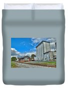 Hampstead Train Station And Grain Mill Duvet Cover