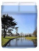Hampton Court Palace Moat England Duvet Cover