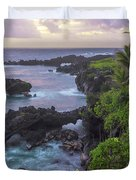Hana Arches Sunrise 3 - Maui Hawaii Duvet Cover