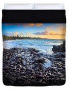 Hana Bay Sunrise Duvet Cover by Inge Johnsson