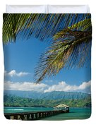 Hanalei Pier And Beach Duvet Cover
