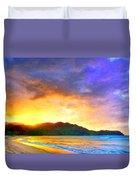 Hanalei Sunset Duvet Cover
