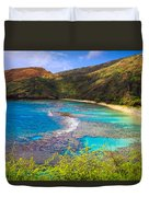 Hanauma Bay In Hawaii Duvet Cover