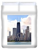 Hancock Building In Chicago Duvet Cover