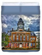 Before It Burned Hancock County Courthouse Art Duvet Cover