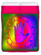 Hand Signs Duvet Cover