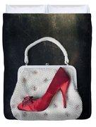 Handbag With Stiletto Duvet Cover by Joana Kruse