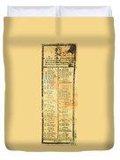 Handbill: Casualties, 1775 Duvet Cover