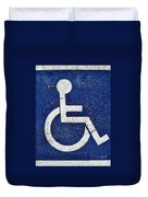 Handicapped Symbol Duvet Cover