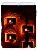 Handmade Oil Candles For Diwali Duvet Cover