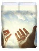 Hands In Sky Duvet Cover