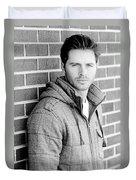 Handsome Man Duvet Cover