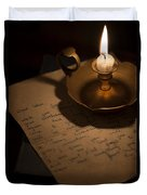 Handwritten Letter By Candle Light Duvet Cover