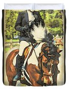 Hang On Tight To Your Painted Horse Duvet Cover