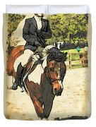 Hang On To Your Painted Horse Duvet Cover
