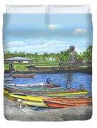 Hanga Roa Harbour Duvet Cover