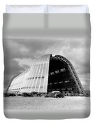 Hangar One At Moffett Field Duvet Cover by Underwood Archives