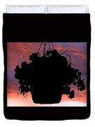 Hanging Basket Silhouette Duvet Cover