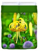 Hanging Lily Duvet Cover
