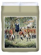 Hanging Of Nathan Hale Duvet Cover