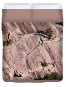 Hanging On To Dear Life - Enchanted Rock State Natural Area - Fredericksburg  Llano Duvet Cover