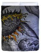 Hanging On To Life - Sunflower Duvet Cover