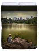 Hanging Out In Central Park Duvet Cover