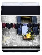 Hanging Out To Dry In Venice 2 Duvet Cover