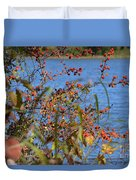 Hanging Over The Lake  Duvet Cover