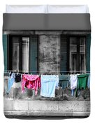 Hanging The Wash In Venice Italy Duvet Cover