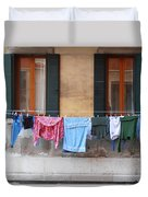 Hanging The Wash In Venice Duvet Cover