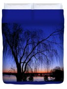 Hanging Tree Sunrise Duvet Cover