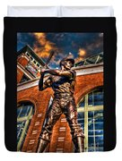 Hank Aaron In Hdr Duvet Cover