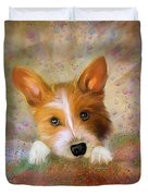 Hankie A Corgi And Westi Mix Cute Dog Duvet Cover