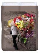 Hanoi Flowers 01 Duvet Cover
