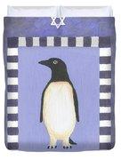 Hanukka Penguin Three Duvet Cover