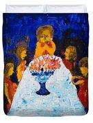 Hanukkah Menorah Duvet Cover