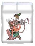 Hanuman Duvet Cover by Kruti Shah