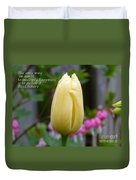 Happiness Tulip Duvet Cover