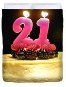 Happy 21st Birthday Duvet Cover