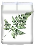 Happy Adventure Music Fern Duvet Cover