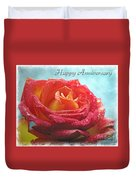Happy Anniversary Rose Duvet Cover