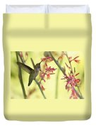 Happy As A Hummingbird  Duvet Cover