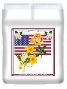 Happy Birthday America 2013 Duvet Cover by Anne Norskog
