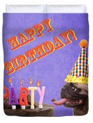 Happy Birthday Card Duvet Cover