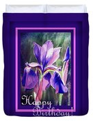 Happy Birthday Iris  Duvet Cover