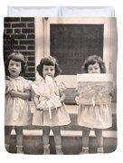Happy Birthday Retro Photograph Duvet Cover